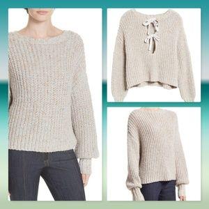 NWT 💕CINQ A SEPT Cierra Tie Back Sweater / Top